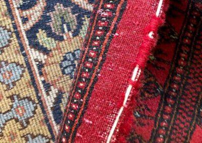 Abgenutzte Teppich-Kanten